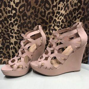Jasmine | Wedge Platforms | Shoes | Pink